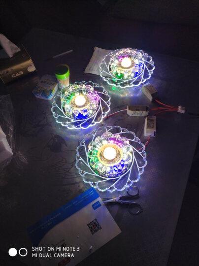 世尊 LED水晶过道灯走廊灯玄关灯门厅灯飘窗灯 客厅led射灯筒灯天花灯 LED5W调光暖光+彩光 明装(不需要开孔) 晒单图