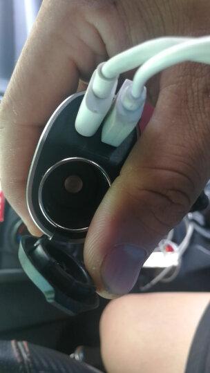 公牛(BULL) 车载充电器 车充点烟器 U118C 银色 3.6A双USB一拖二 金属材质 附加安卓数据线 晒单图