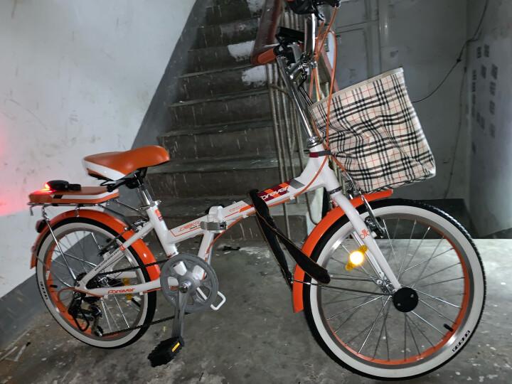 永久永久折叠车自行车 铝合金20寸7速/男女学生单车 雅途 绿色 高配 20寸 晒单图