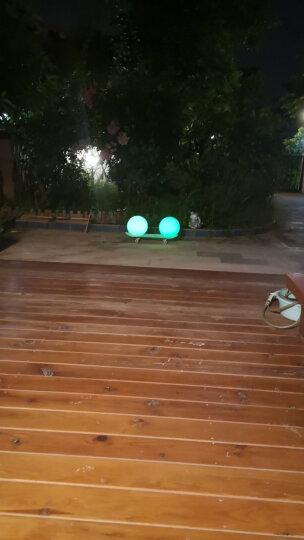 太阳能柱头灯圆球形围墙大门柱子灯户外防水家用庭院新农村别墅花园装饰路灯led氛围照明景观灯 40cm定制款不能退换-16种灯光-双充-带遥控 晒单图