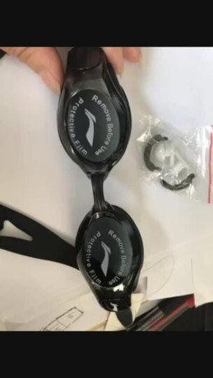 李宁 LI-NING 泳镜 高清防雾防水眼镜男士女士游泳镜 LSJK508-3粉色 晒单图