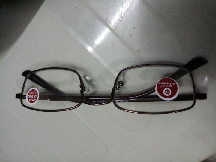 雷德蒙新款老人眼镜老花镜男树脂金属老花眼镜女眼睛时尚舒适老化眼镜老年人眼镜男女 咖啡200度 晒单图