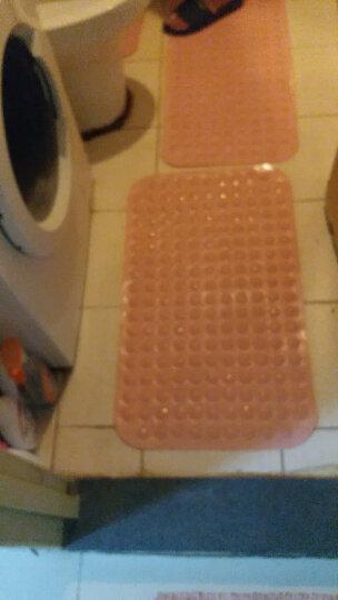 瑞邦(Rui.B)浴室防滑垫 洗澡淋浴房吸盘脚垫卫生间地垫门垫子 粉色 46*78cm环保无味 晒单图