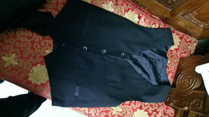 ELPA 男童礼服套装儿童小西装套装英伦风中大童西服婚礼花童礼服男孩钢琴表演出服 89白色5件套:外套,马甲,裤子,衬衫,领结 170码 身高160-170cm体重111-121 晒单图