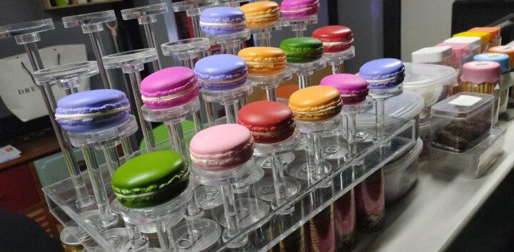 Lmdec 仿真马卡龙模型 PU蛋糕卷糕点甜点装饰品 展会橱柜甜品店摆设 马卡龙5个套装 晒单图
