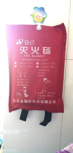 安己 家用灭火毯消防认证玻璃纤维防火毯1.5米x1.5米消防应急毯救生毯企业单位仓库船舶汽车家庭 阻燃逃生灭火毯1m*1m(加厚款) 晒单图