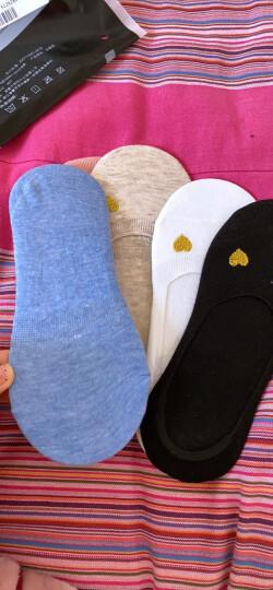 猫人5双装女士船袜女甜美绣花冰晶玻璃丝薄款无痕防滑低帮浅口短袜 晒单图