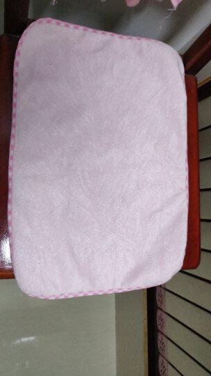 象宝宝(elepbaby)婴幼儿尿垫 竹纤维三层加厚防水隔尿垫小号50X37CM(粉色2条装) 晒单图