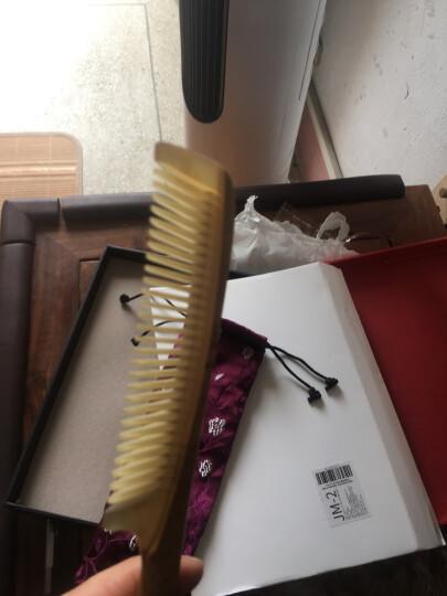紫韵梳香圣诞节礼物送女友牛角梳齿配檀木手柄梳子礼盒生日礼物送女生JM-1951 晒单图