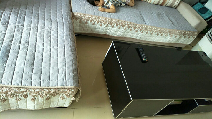 【中秋节优惠】宜然居 四季沙发垫套装全棉沙发垫套罩坐垫可定制 g花漾-灰色 90*90cm一片 晒单图