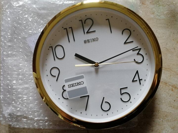 精工(Seiko)时尚创意欧式客厅居家挂钟挂表 晒单图