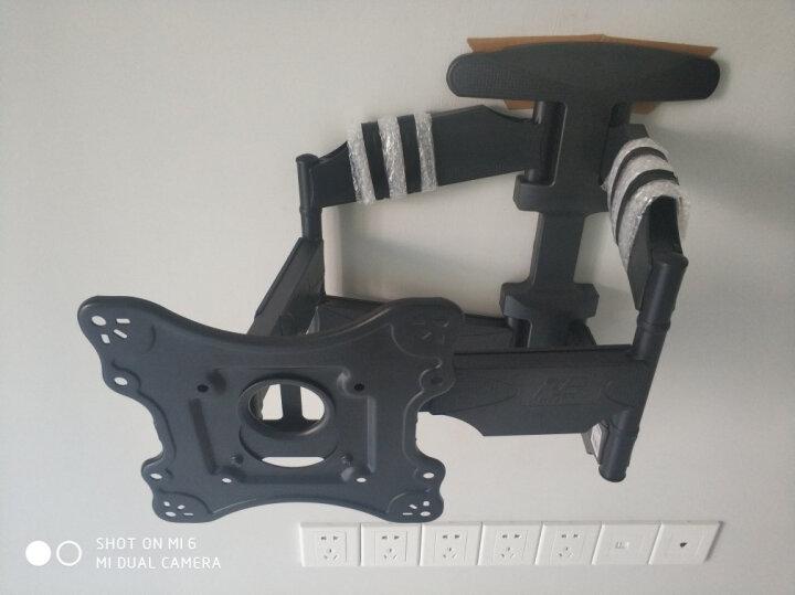 NB(55-80英寸)液晶电视移动挂架落地移动视频会议推车激光电视架教学一体机电子白板支架通用AVA1800-70-1P白 晒单图