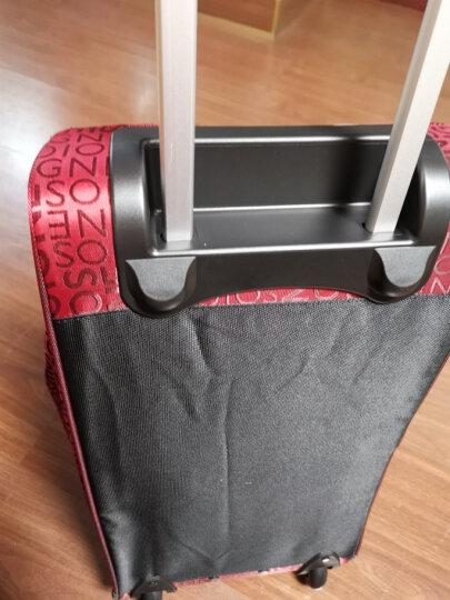 达派dapai旅行包男行李包拉杆包女大容量登机包拉杆袋手提包旅游包袋842 红色 晒单图