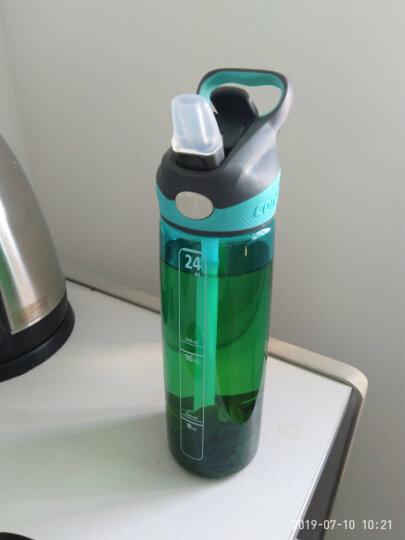 美国contigo康迪克单层运动吸管杯夏季户外运动塑料水杯750ML 天蓝色HBC-ADN027 晒单图