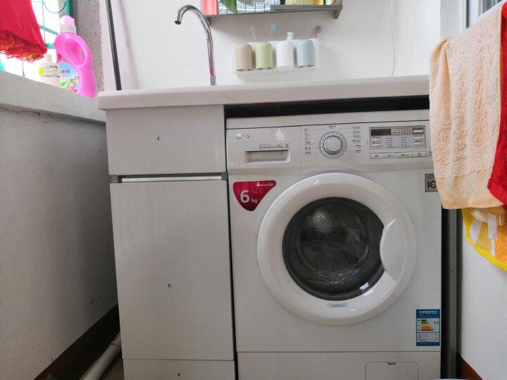 迈勒(MELOWAV)不锈钢洗衣柜浴室柜组合套装洗衣机伴侣阳台洗衣机柜台面带搓衣板M-7102 银白色 120CM对开门 右盆 晒单图