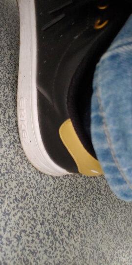 鸿星尔克erke男鞋 板鞋新款休闲运动鞋滑板鞋情侣小白鞋51116401106正白/正黑42码 晒单图