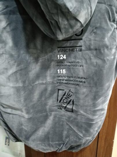 运动套装男健身服冬季加绒加厚金丝绒运动服三件套男士运动套装 三件套 男款灰色 4XL体重(180-200) 晒单图