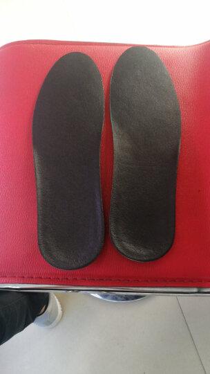 【2双装】 皮鞋鞋垫男吸汗防臭透气减震真皮鞋垫运动加厚头层牛皮鞋垫女软 猪皮-2双装米黄色43-44码 晒单图