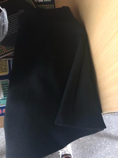 黛芸希 半身裙女2018新款秋冬百搭毛呢蓬蓬裙韩版高腰a字裙百褶短裙子 D075 黑色 L 晒单图