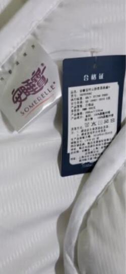 安睡宝(SOMERELLE)被子 英威达科技纤维春秋被芯 舒柔四季盖被棉被空调被 双人 纤云白 1.5/2米床200*230cm 晒单图