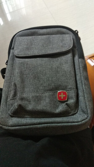 SWISSGEAR胸包 棉麻时尚休闲胸包单肩斜挎包 户外运动旅行包男女 iPadmini包 SA-9859灰色 晒单图