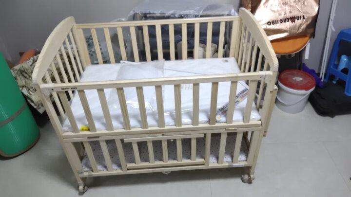 hd小龙哈彼 婴儿床多功能实木无漆新生儿宝宝童床可加长拼接大床可做书桌游戏摇床 LMY118-J392 (送蚊帐) 晒单图