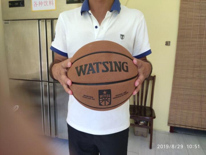 WITESS 篮球番毛软皮加厚真皮手感7号标准比赛篮球室内室外通用蓝球 加厚十字纹篮球-送全套配件 晒单图