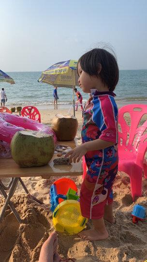 拓胜(TOSWIM) 连体平角泳衣男女童速干防晒沙滩亲肤宝宝游泳衣裤 百变芭比120 晒单图