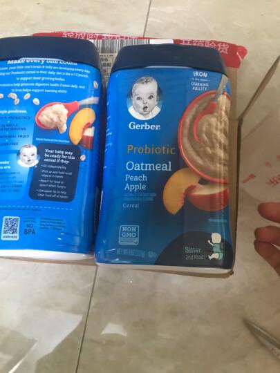 嘉宝Gerber 米粉婴幼儿米糊 宝宝辅食 蜜桃苹果谷物营养米粉二段(6个月以上) 227g/罐 美国进口 晒单图