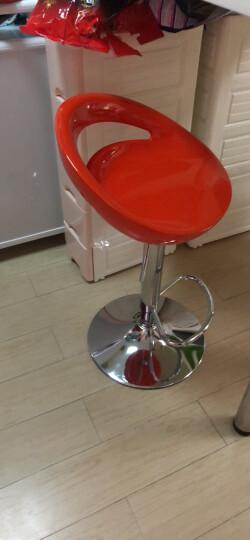 时尚吧台椅 酒吧椅 前台椅子 吧台凳子 高脚凳 可升降旋转餐椅 白色矮款. 晒单图