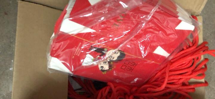 幽幽兔 结婚用品喜糖盒糖果盒可装烟糖果袋手提回礼袋 黄冠拜堂一包 小号50个装 晒单图