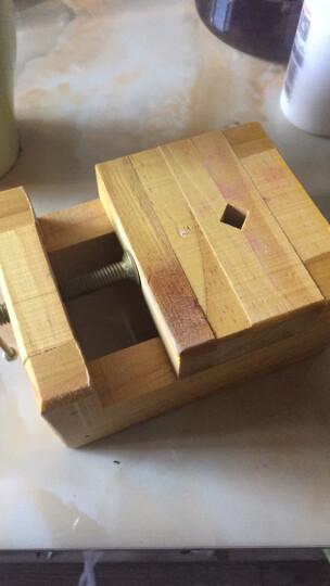 实木印床刻床实木夹具石料刻章固定篆刻工具套装雕刻夹具印台夹 大号木质印床 晒单图