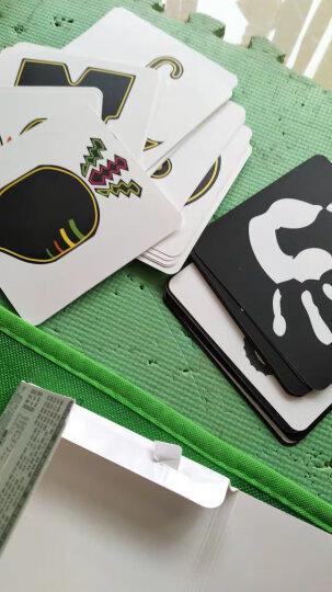 0-12月宝宝视觉开发必备:  0岁卡、黑白卡、彩色卡、红黑白洞洞卡(全4册)超人乖乖出品 晒单图
