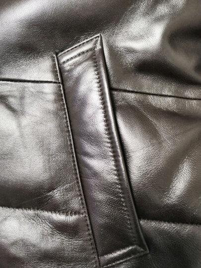 杜森·克莱恩(DK) 海宁 真皮羽绒服男士 真皮皮衣男水貂领中长款绵羊皮皮衣 冬季保暖外套 黑色 5XL 晒单图