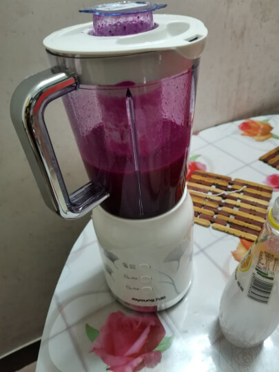 九阳(Joyoung)料理机电动多功能家用四杯榨汁机研磨绞肉机婴儿辅食机搅拌机果汁机豆浆小米糊 JYL-C022E 晒单图