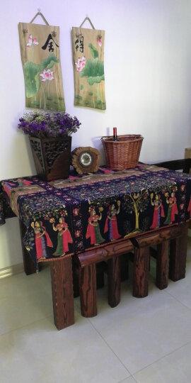 棉麻布料服装面料复古中国风名族印花旗袍薄麻桌布民族风布料 #20花样年华 晒单图