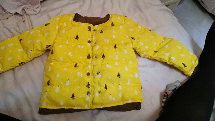 南极人儿童羽绒服2019冬季新款宝宝内胆上衣男童女童保暖外套外出服 黄色树 100CM 晒单图