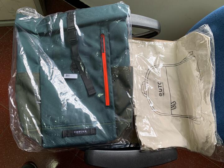 TIMBUK2美国天霸 双肩包TUCK卷口背包运动休闲旅行包商务大容量包15.6英寸电脑包男女 军绿色/黄绿色 晒单图