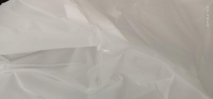 捷昇(JIESHENG) 雨衣成人带背包男女长款非一次性户外旅游登山垂钓徒步大帽檐防水透明雨披 白色 XL 晒单图