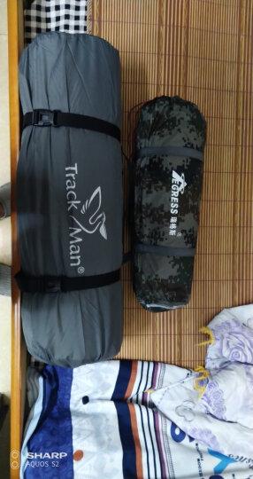 TrackMan  孔雀草防潮垫  帐篷充气垫 气垫床帐篷垫子充气床隔潮垫 可对折 单双款 桔色 190*132*3CM 晒单图