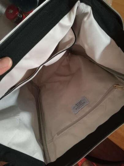vanwalk 时尚妈咪包双肩背包女新款韩版学院风简约中学生书包女包手提包背包潮v1137 黑色大版 晒单图