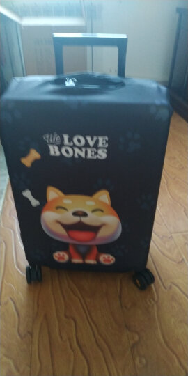 班哲尼 拉杆箱旅行箱保护套弹力行李箱套防尘雨罩加厚耐磨托运套 小柴犬适用19英寸20英寸21英寸拉杆箱 晒单图
