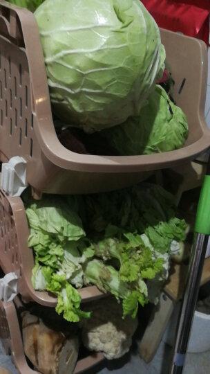 百露塑料蔬菜水果厨房置物架收纳筐落地多层储物用品用具放菜篮架子收纳架 大号白色四层 晒单图