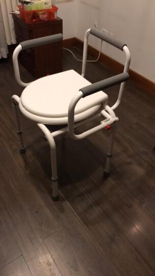 AUFU佛山东方铝合金坐便椅靠背椅FS895L 孕妇老人残疾人轻便马桶椅洗澡椅可调节坐厕椅 带手提便桶 晒单图