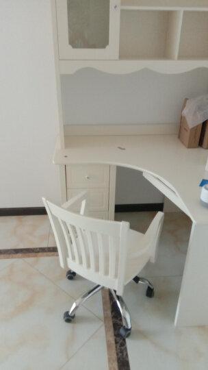 欧倍丝 儿童书桌椅套装 儿童学习桌 电脑桌 写字台 办公桌 带书架 转角书桌+转椅 晒单图