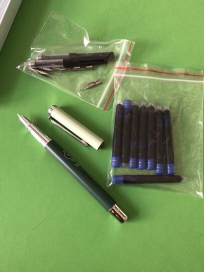 英雄(HERO)钢笔学生男女款EF尖卡通正姿铱金钢笔+可消字笔+墨囊套装 10支装 蓝色 晒单图