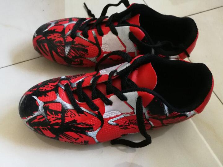 罗威卡登足球鞋草地长钉男子比赛训练钉鞋球鞋儿童学生男女草地成人AG碎钉 163-1粉色 35 晒单图