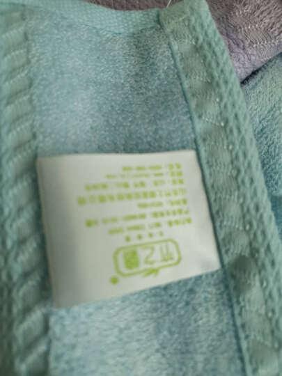 竹之锦  毛巾套装 竹浆纤维加厚大毛巾混色6条装 柔软吸水洗脸毛巾 纯棉混纺 晒单图