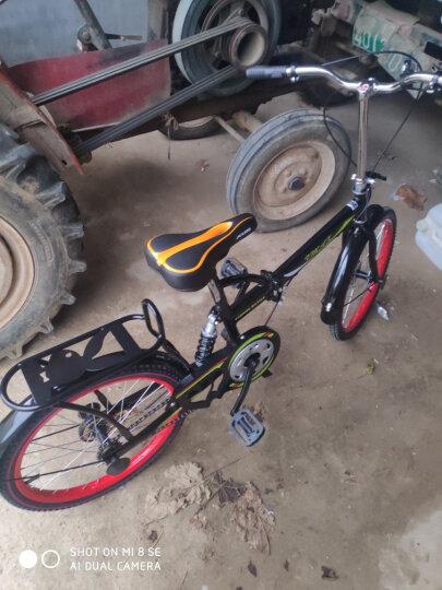 VMAX 变速减震折叠自行车20寸成人超轻便携儿童折叠车自行车男女学生16寸小轮单车送礼 黑红6速(有货架无避震) 20寸(身高135-175CM) 晒单图