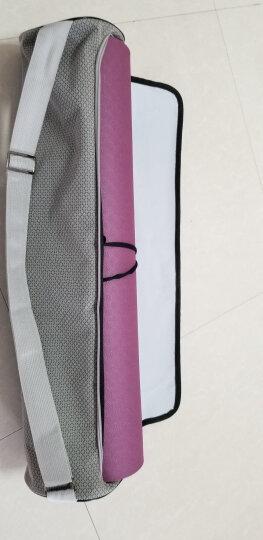 哈他专业瑜伽垫国际标准183*66cm尺寸双面健身垫优选环保TPE激光雕刻稳定防滑运动垫男 紫玉兰 晒单图
